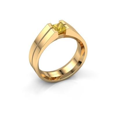 Foto van Heren ring Stefan 585 goud gele saffier 4.5 mm