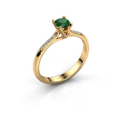 Foto van Aanzoeksring Isa 2 585 goud smaragd 4.2 mm