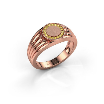 Pinky Ring Jacobus 585 Roségold Gelb Saphir 1.2 mm