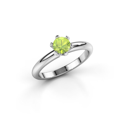 Picture of Engagement ring Tiffy 1 585 white gold peridot 5 mm