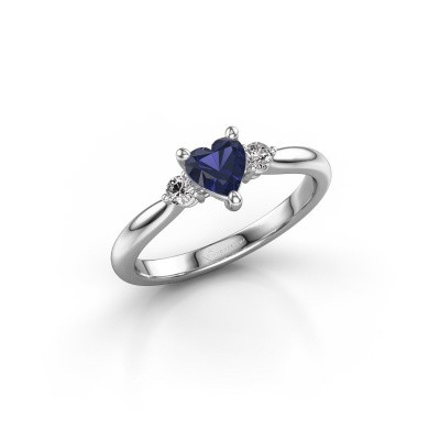 Picture of Engagement ring Lieselot HRT 925 silver sapphire 5 mm
