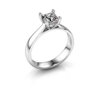 Bague de fiançailles Sam Square 925 argent diamant 1.00 crt