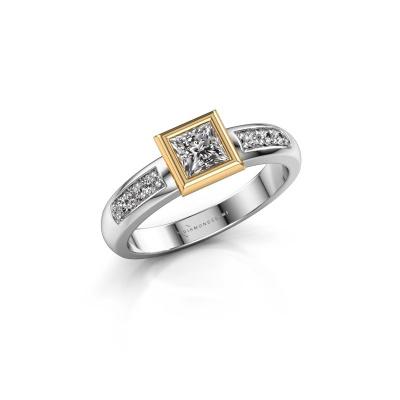 Stacking ring Lieke Square 585 white gold diamond 0.52 crt