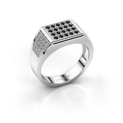 Foto van Heren ring Tim 950 platina zwarte diamant 0.714 crt