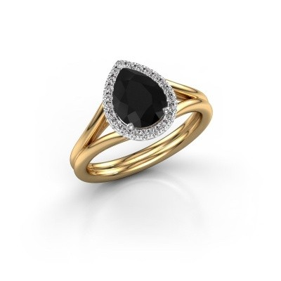 Foto van Verlovingsring Elenore 585 goud zwarte diamant 1.287 crt