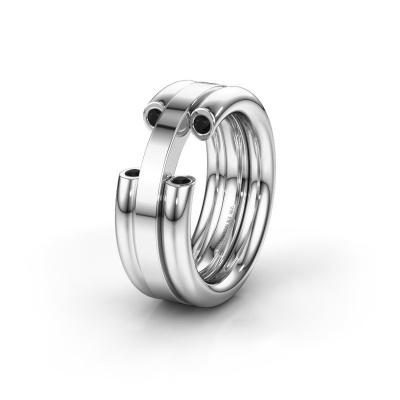 Ehering WH6018L 950 Platin Schwarz Diamant ±8x3 mm