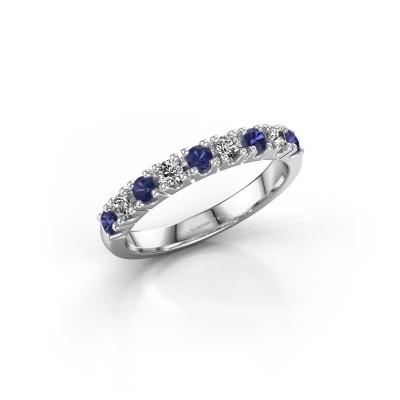 Engagement ring Rianne 9 585 white gold sapphire 2.4 mm