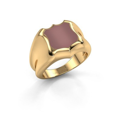 Signet ring Nevin 585 gold carnelian 12x12 mm