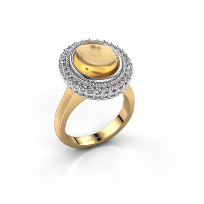 Photo de Bague Mila 585 or jaune citrine 12x10 mm