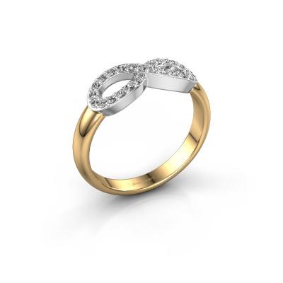 Ring Infinity 2 585 goud zirkonia 1.2 mm