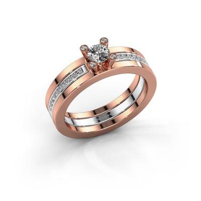 Bild von Ring Alisha 585 Roségold Diamant 0.36 crt