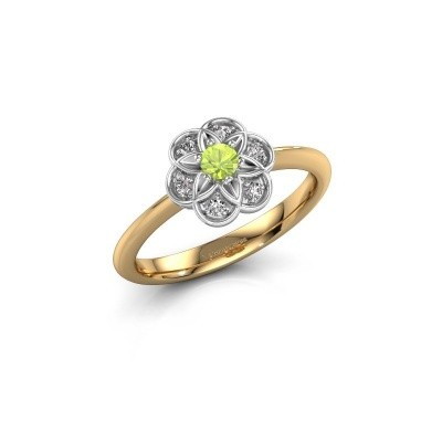 Engagement ring Uma 585 gold peridot 3 mm