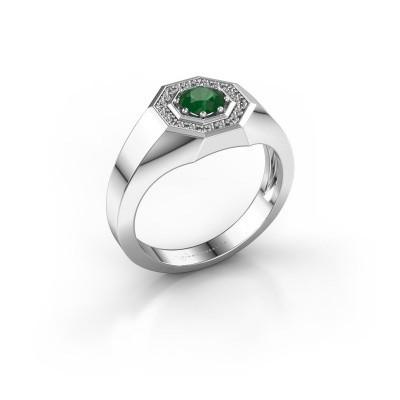 Foto van Heren ring Jaap 925 zilver smaragd 5 mm