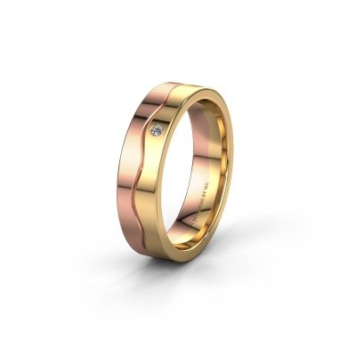 Ehering WH0701L15AP 585 Roségold Lab-grown Diamant ±5x1.7 mm