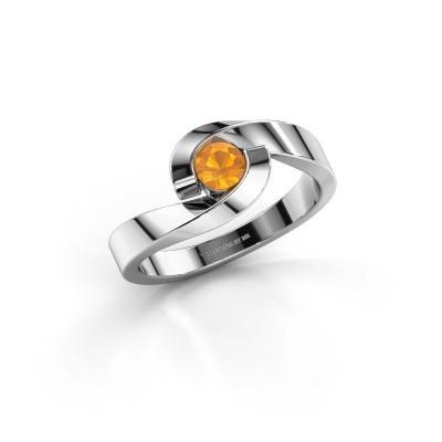 Bild von Ring Sheryl 585 Weißgold Citrin 4 mm