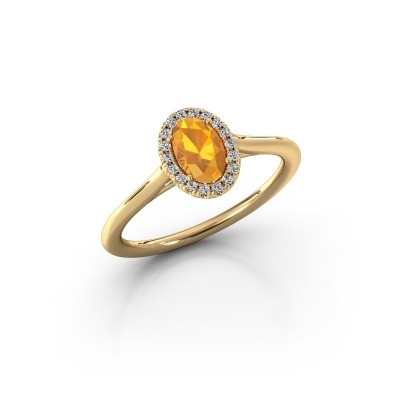 Engagement ring Seline 1 750 gold citrin 6x4 mm