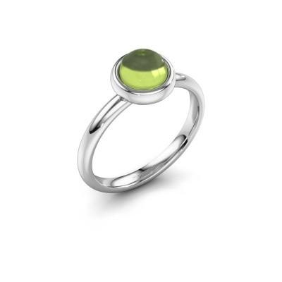 Ring Blossom 925 zilver peridoot 6 mm