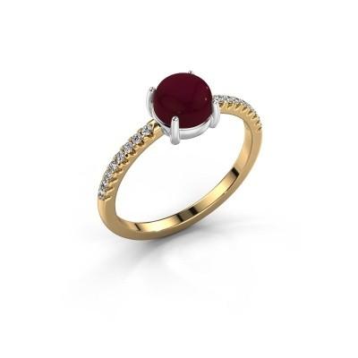 Ring Cathie 585 goud granaat 6 mm