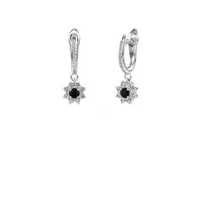 Oorhangers Camille 2 585 witgoud zwarte diamant 0.605 crt