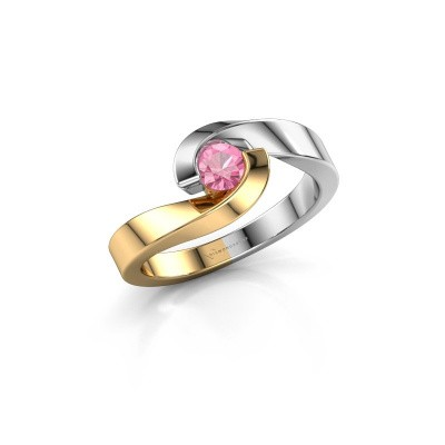 Foto van Ring Sheryl 585 goud roze saffier 4 mm
