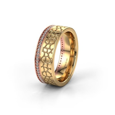 Trouwring WH2070L17C 585 rosé goud diamant ±7x2.2 mm