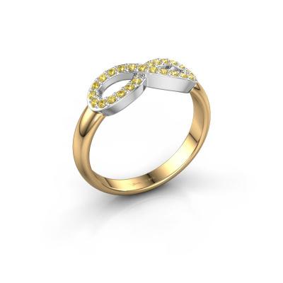 Ring Infinity 2 585 goud gele saffier 1.2 mm