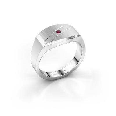 Foto van Heren ring Joe 3 925 zilver rhodoliet 2 mm