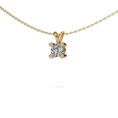 Foto van Hanger Fleur 585 goud lab-grown diamant 0.50 crt
