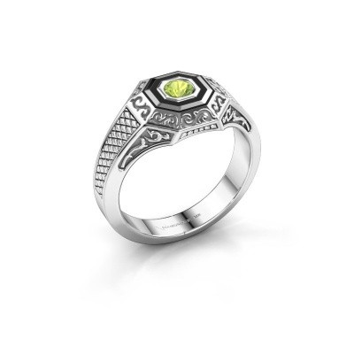 Foto van Heren ring Dion 925 zilver peridoot 4 mm