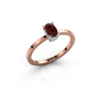 Foto van Ring Lynelle 1 585 rosé goud granaat 6x4 mm
