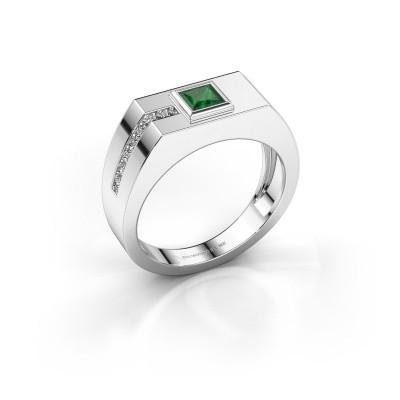 Herrenring Robertus 1 950 Platin Smaragd 4 mm