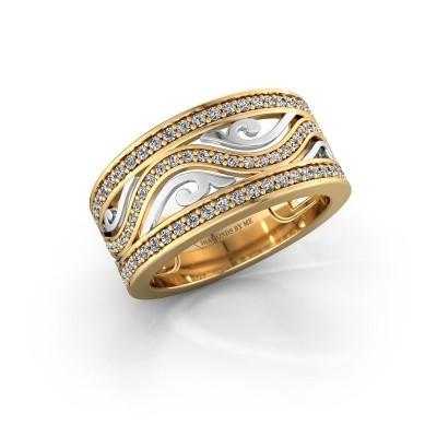 Bague Louvenia 585 or jaune diamant 0.72 crt