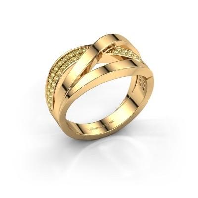 Ring Amira 375 goud gele saffier 1.2 mm