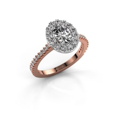 Picture of Engagement ring Jorinda 2 585 rose gold lab-grown diamond 1.275 crt