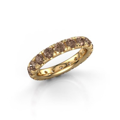 Foto van Aanschuifring Jackie 3.4 375 goud bruine diamant 2.700 crt