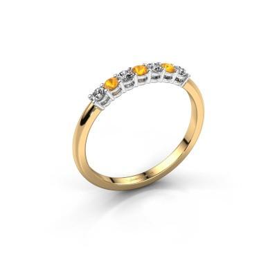 Verlobungsring Michelle 7 585 Gold Citrin 2 mm