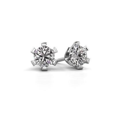 Oorstekers Shana 950 platina diamant 0.50 crt