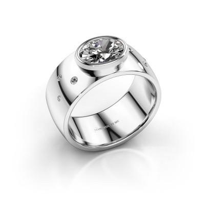 Ring Wilma 2 585 witgoud zirkonia 8x6 mm