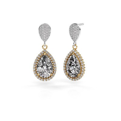 Pendants d'oreilles Tilly per 2 585 or jaune diamant 6.690 crt