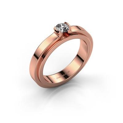 Foto van Verlovingsring Jacinda 585 rosé goud diamant 0.25 crt