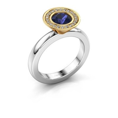 Stacking ring Danille 585 white gold sapphire 6 mm
