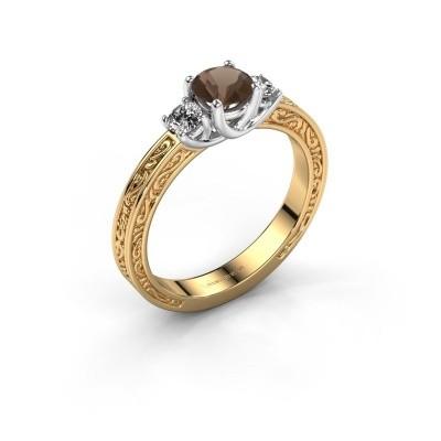 Verlovingsring Betty 1 585 goud rookkwarts 5 mm