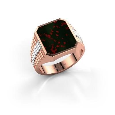Foto van Rolex stijl ring Brent 3 585 rosé goud heliotroop 14x12 mm