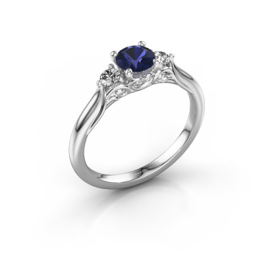 Picture of Engagement ring Laurian RND 925 silver sapphire 5 mm