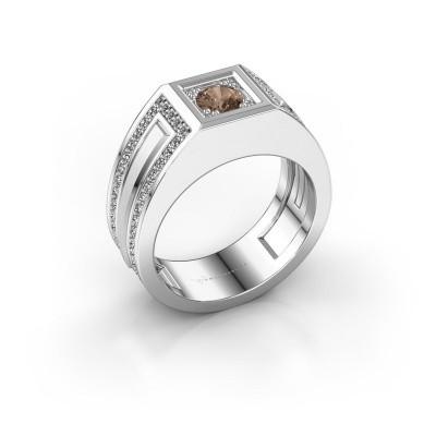 Foto van Heren ring Lando 585 witgoud bruine diamant 1.02 crt