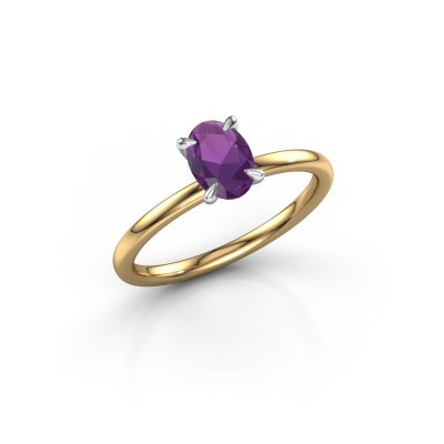 Picture of Engagement ring Crystal OVL 1 585 gold amethyst 7x5 mm
