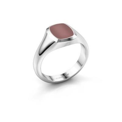 Foto van Pink ring Benjamin 1 925 zilver carneool 10x8 mm