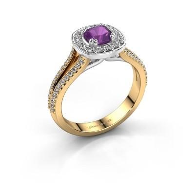 Engagement ring Carolina 2 585 gold amethyst 5 mm