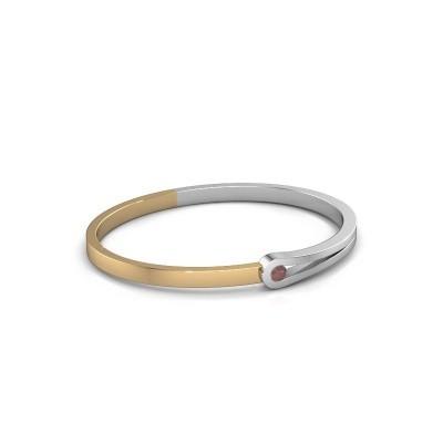 Armreif Kiki 585 Weißgold Granat 4 mm