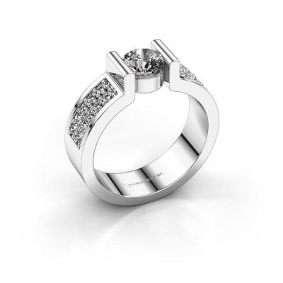 Engagement ring Isabel 3 925 silver diamond 0.900 crt